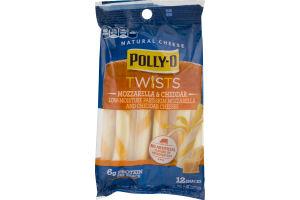 Polly-O Natural Cheese Twists Mozzarella & Cheddar - 12 CT