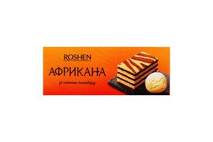 Торт зі смаком пломбіру Африкана Roshen к/у 1кг