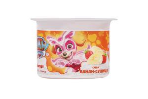 Йогурт 2% Банан-земляника Paw Patrol Danone ст 115г