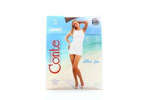 Колготы женские Conte Summer Multifibra 8den 2-S bronz
