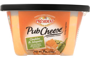 President Authentic Pub Cheese Cheddar & Jalapeno