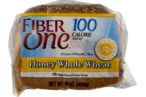 Fiber One 100 Calorie Bread Honey Whole Wheat