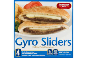 Sandwich Bros. of Wisconsin Flatbread Pocket Sandwiches Gyro Sliders Individually Wrapped - 4 CT