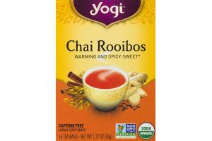 Yogi Chai Rooibos Tea Bags - 16 CT
