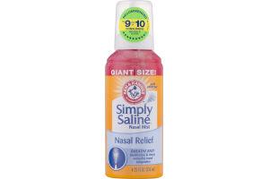 Arm & Hammer Simply Saline Nasal Mist Nasal Relief Giant Size