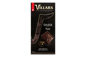 Шоколад Villars какао 72%