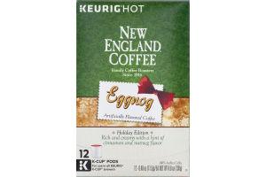 New England Coffee Eggnog K-Cup Pods - 12 CT
