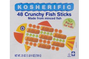 Kosherific Crunchy Fish Sticks - 48 CT
