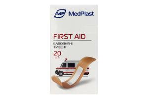 Набір пластирів бавовняні тілесні First Aid MedPlast 20шт