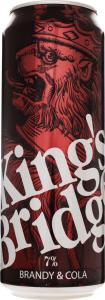Напиток слабоалкогольный 0.5л 7% Brandy&Cola King`s Bridge ж/б