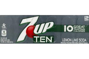 7-Up Ten Lemon Lime Soda - 12 PK