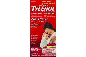 Infants' Tylenol For Children Oral Suspension Acetaminophen Pain + Fever Cherry