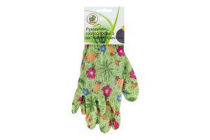 Перчатки хозяйственные с цветочным принтом Y*-1
