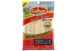 Galbani Snack Cheese Mozzarella & Parmesan - 8 CT