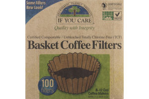 If You Care Basket Coffee Filters - 100 CT