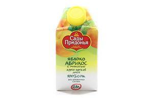 Сок яблочно-абрикосовый с мякотью Сады Придонья т/п 0.5л