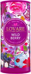 Чай чорний байховий листовий Дика ягода Lovare з/б 80г