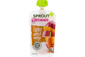 Sprout Organic Baby Food Carrot, Apple & Mango