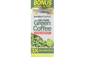 Purely Inspired 100% Pure Green Coffee Lose Weight Dietary Supplement - 100 CT