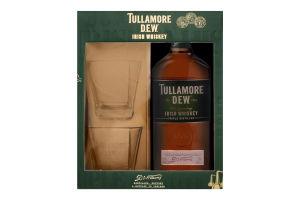 Віскі Tullamore Dew 40% 0,7л (короб) +2 склянки