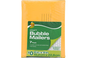 Duck Kraft Bubble Mailers # 0 - 7 PK