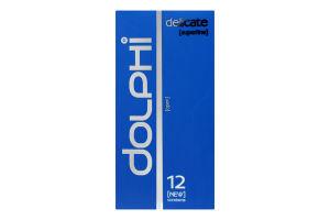Презервативи у силіконовому змащувачі Delicate Dolphi 12шт