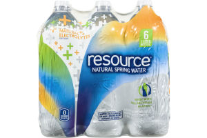 Resource Natural Spring Water - 6 CT