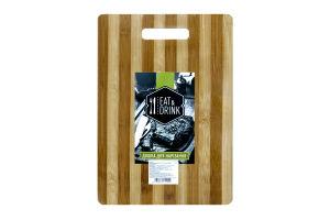 Доска разделочная Eat&Drink бамбук 24*34см D-001