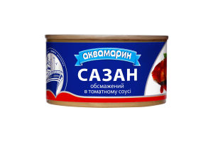 Сазан обсмажений в томатному соусі Аквамарин з/б 230г