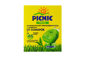 Средство Family жидкость от насекомых Picnic 30мл+электрофумигатор
