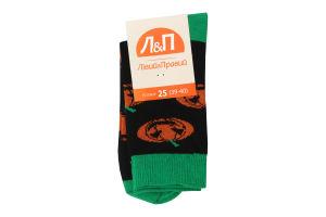 Шкарпетки чоловічі Лівий&Правий №796804 р.25 (39-40) чорний