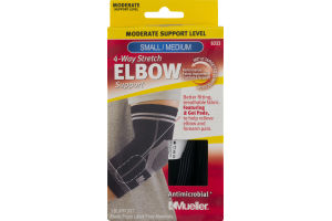 Mueller 4-Way Stretch Elbow Support Moderate Support Level Small/Medium