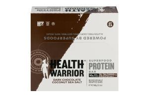 Health Warrior Superfood Protein Bar Dark Chocolate Coconut Sea Salt - 12 CT