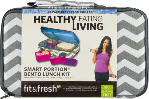 Fit & Fresh Healthy Eating Living Smart Portion Bento Lunch Kit