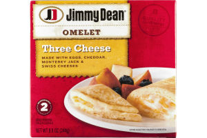 Jimmy Dean Three Cheese Omelet Cheddar, Monterey Jack & Swiss - 2 CT