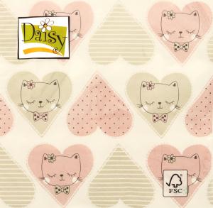 Салфетка Daisy c рисунком бумажная 3-слойная D-19