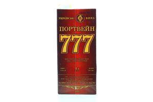 Вино Портвейн 777 червоний 1л