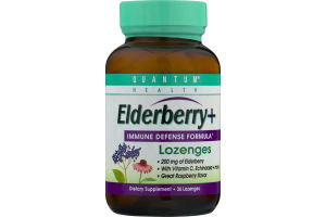 Quantum Health Elderberry+ Immune Defense Formula Lozenges - 36 CT