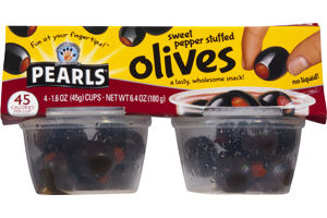 Pearls Olives Sweet Pepper Stuffed - 4 CT