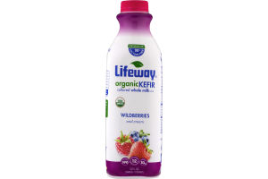 Lifeway Organic Kefir Cultured Whole Milk Wildberries and Cream
