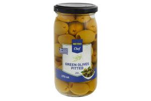 Оливки зеленые без косточки Metro Chef с/б 350г