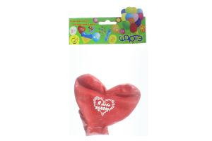 Шарте кульки надувні 17 Серце велике з малюнком 1шт