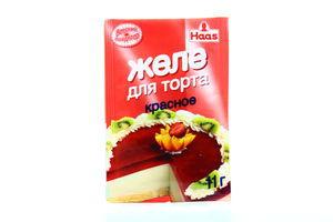 Желе Haas д/торта красное 11г