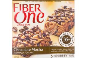 General Mills Fiber One Chocolate Mocha Chewy Bars - 5 CT
