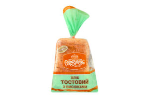 Хлеб нарезной с отрубями Тостовый Рум'янець м/у 350г