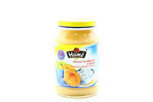 Пюре для детей от 6мес Яблоко и абрикос с творогом Hame с/б 190г