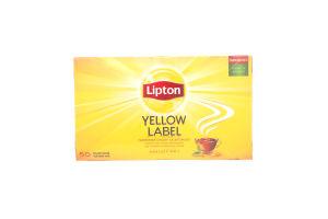 Чай черный Yellow Label Tea Lipton к/у 50х2г