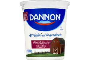 Dannon Whole Milk Yogurt Plain