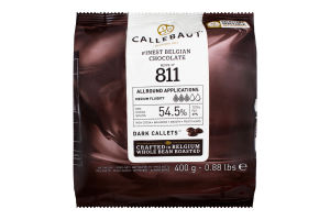 Шоколад 54.5% Dark callets Callebaut м/у 400г