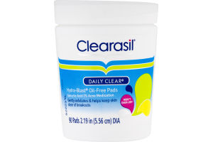 Clearasil Daily Clear Hydra-Blast Oil-Free Pads - 90 CT